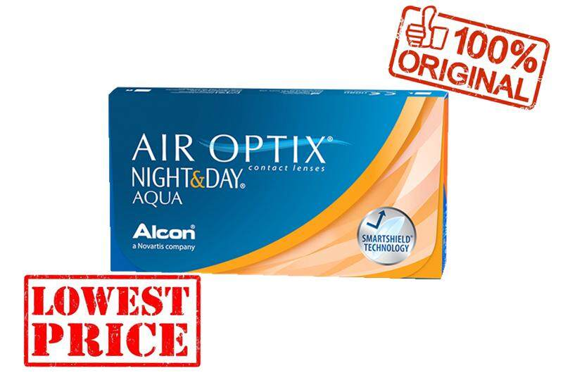 Alcon Air Optix Night & Day Monthly 3 pcs Silicone Hydrogel Contact Lenses