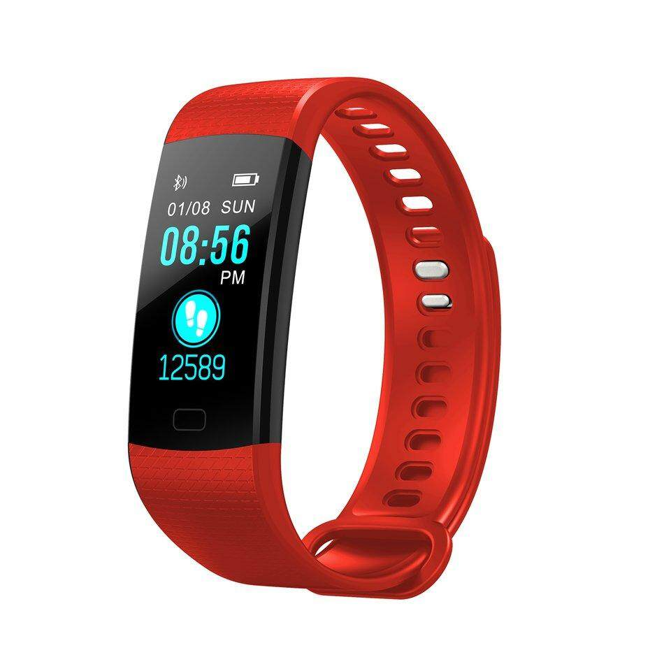 Pretty Smart Wristband Color Screen Heart Rate Blood Pressure Monitor Pedometer