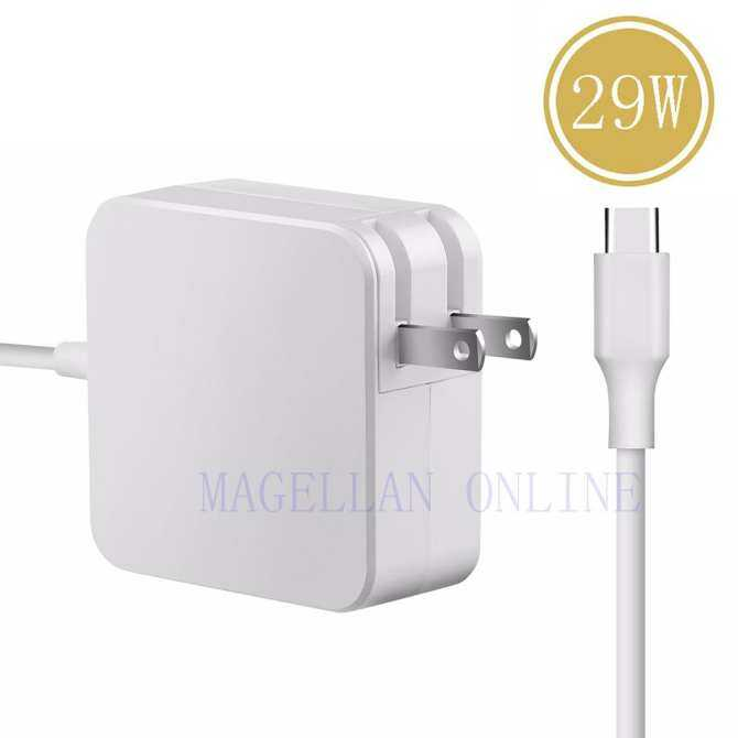 29W USB C Power Adapter AC Supply Charger for Apple New Macbook 12-inch Inch 2015 Computer Laptop (UK/US/EU Plug)