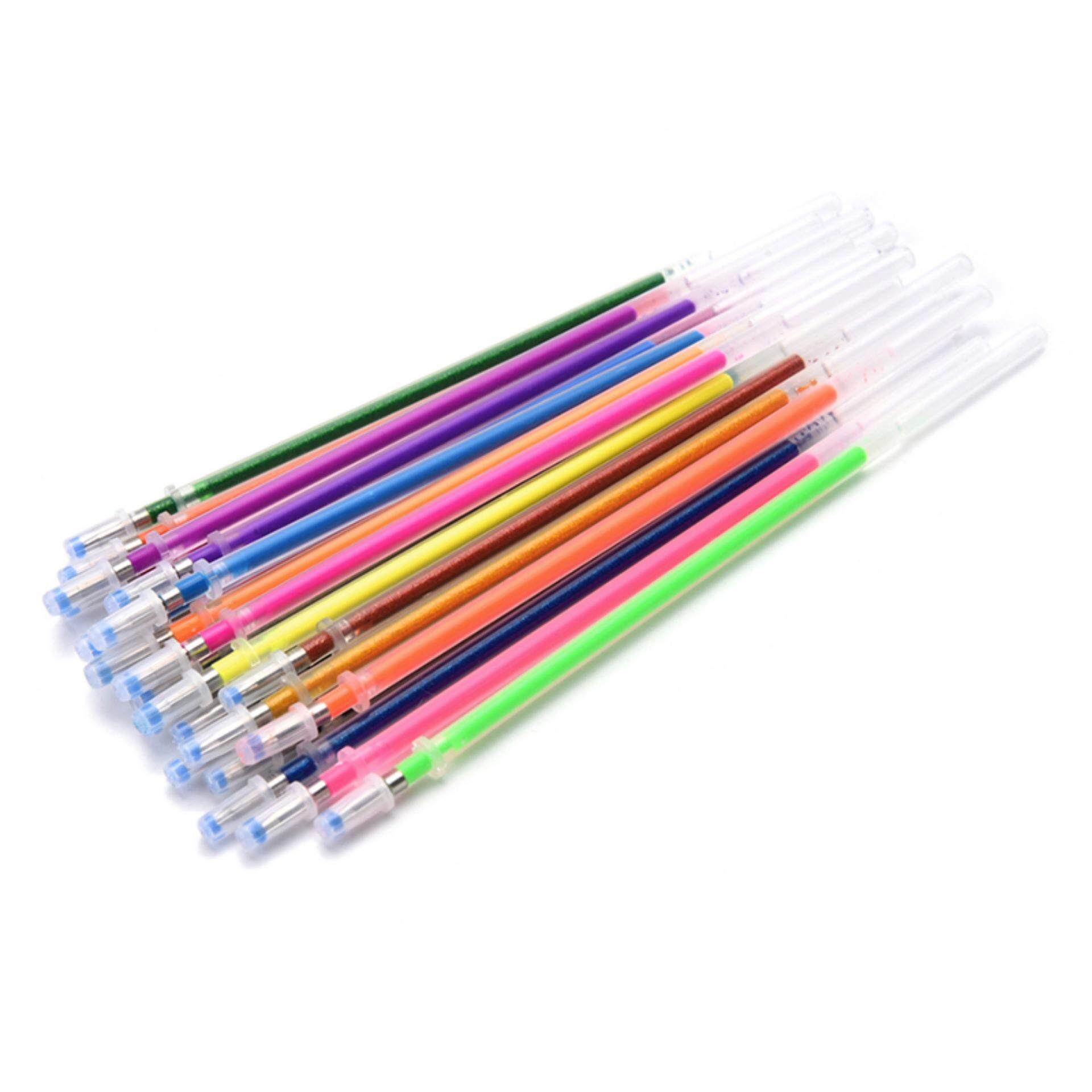 Colors Flash Ballpint Pen Highlight Pen Refill Colorful Refills Children Gift