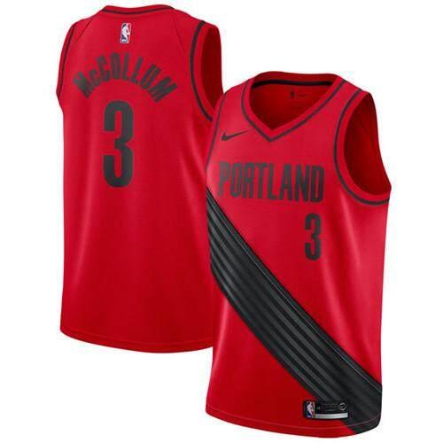 f6dd74a7518 Portland Trail Blazers C.j. McCollum 3 Merah Swingman Statet Edition Resmi  Penjualan Global Ukuran S-