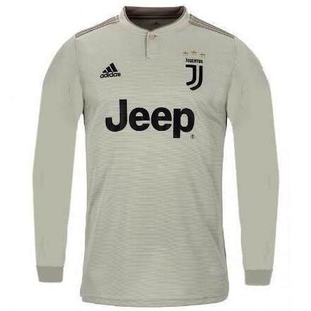 buy popular 73744 42c7f Juventus Away 2018/19 Long Sleeve Jersey for Men (Cristiano Ronaldo / Paolo  Dybala / Juan Cuadrado)