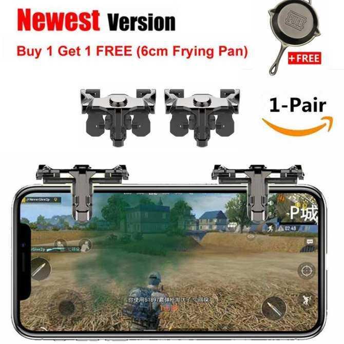 Bộ 2 nút bắn Pupg D10 từ thép có thể chơi các tựa game đang Hot trên điện thoại hiện nay thumbnail
