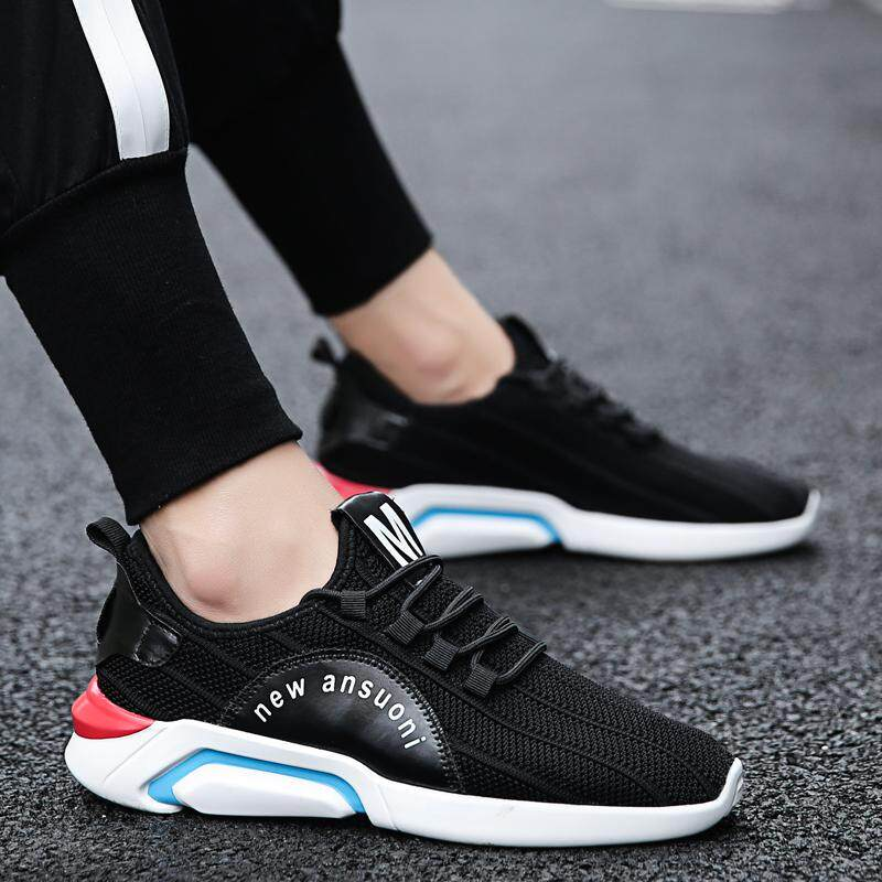 2018 model baru sepatu pria musim panas bernapas Pria sepatu olahraga  Berlari sepatu kasual sepatu trendi d74e46eb9f