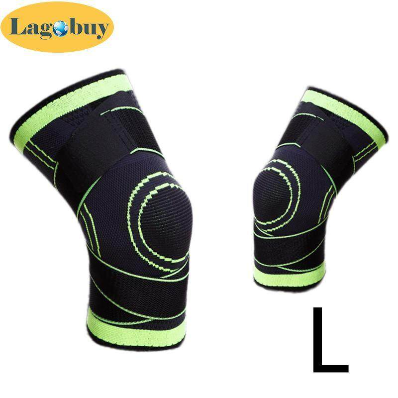 Lagobuy 1Pcs Pressurized Warm Knee Pad Support Cycling Breathable Knee Brace Sport Guard ( S-XL Optional)