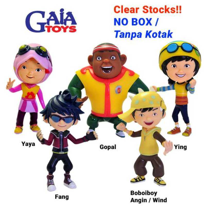 CLEAR STOCKS - Boboiboy Angin Gopal Ying Fang Yaya &