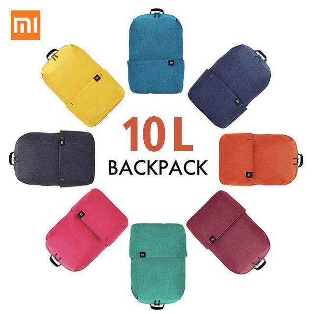 Xiaomi Mi Backpack for Men Women 10L Bag 8 Colors Lightweight Water-resistant Backpack 165g Urban Leisure Sports Chest Pack Bags