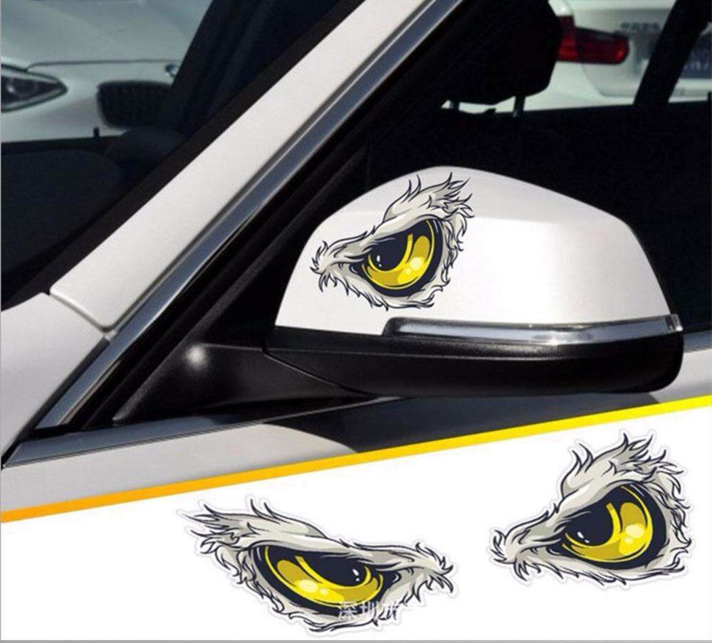 Product details of hiqueen reflective 3d eyes decals car stickers rearview mirror car head styling sticker