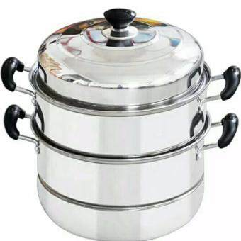 READY STOCK ~ 28cm Stainless Steel Steamer 3 Layer