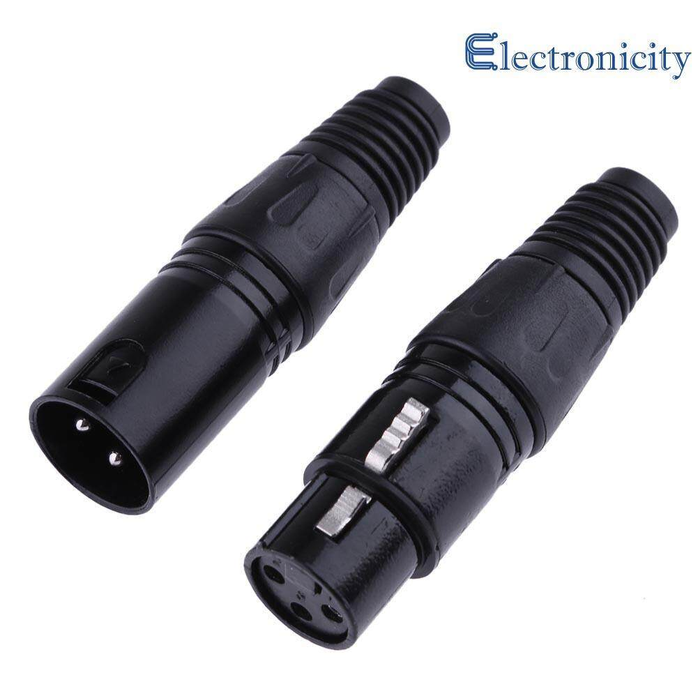 1 Pair XLR 3 Pin Female Jack / Male Plug Audio Microphone MIC Audio Connector