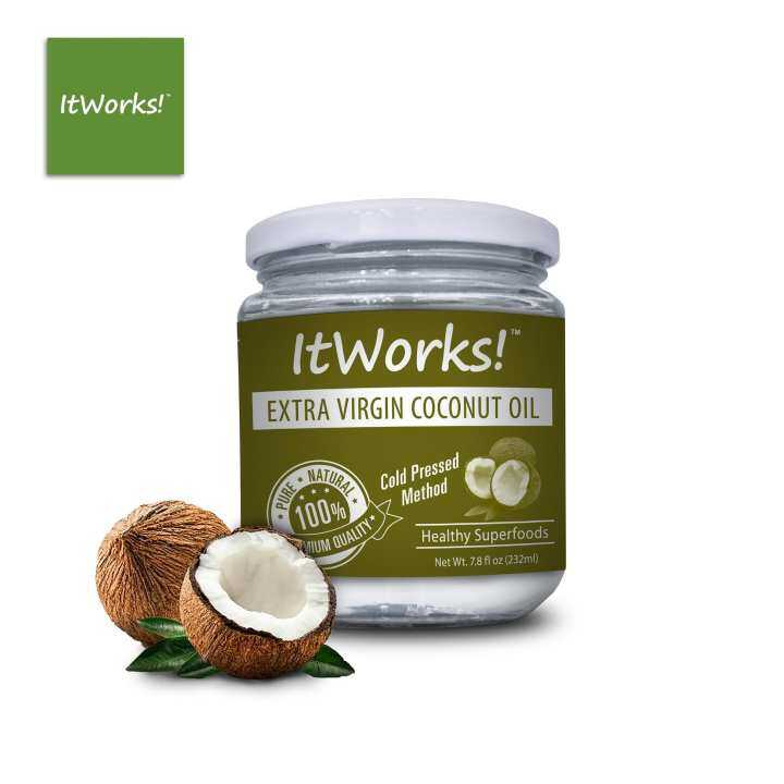 ItWorks! Extra Virgin Coconut Oil 232ml Jar