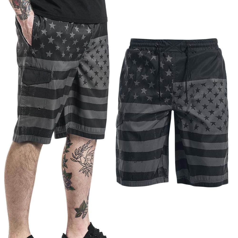 287ff3b21 BZY American flag Summer Style Men Beach Shorts Brand pants Male Short Pants  | Lazada Singapore
