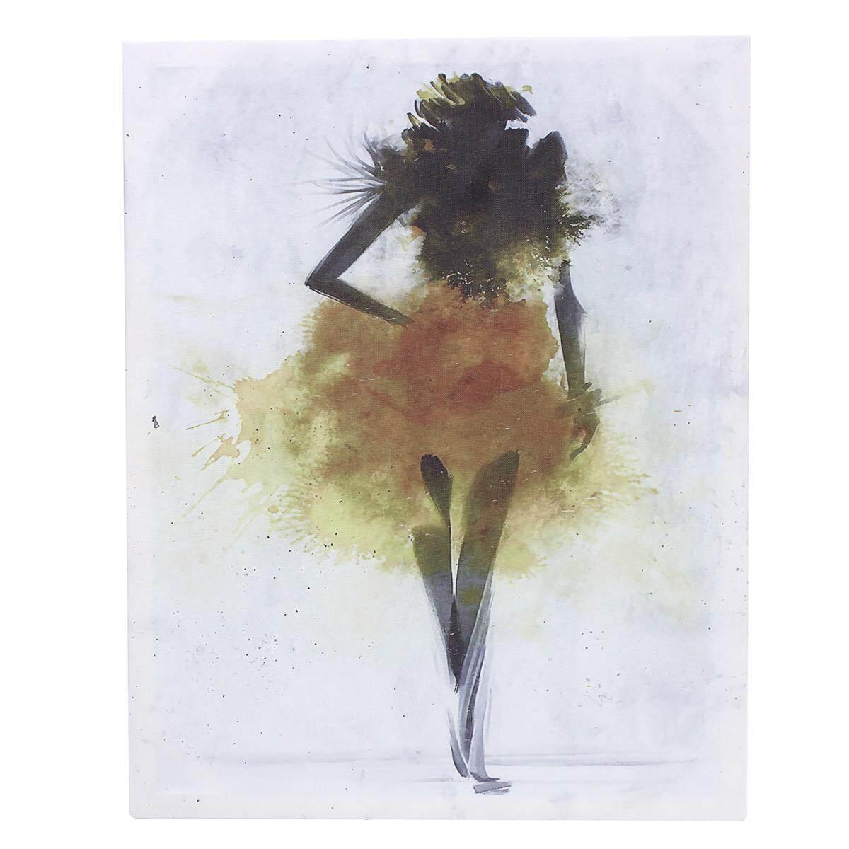 Thời trang Bé Gái Tối Giản Nghệ Thuật Trừu Tượng Vải Poster Tranh Trang Trí Hiện Đại FA005 # Unframed 30*40 cm