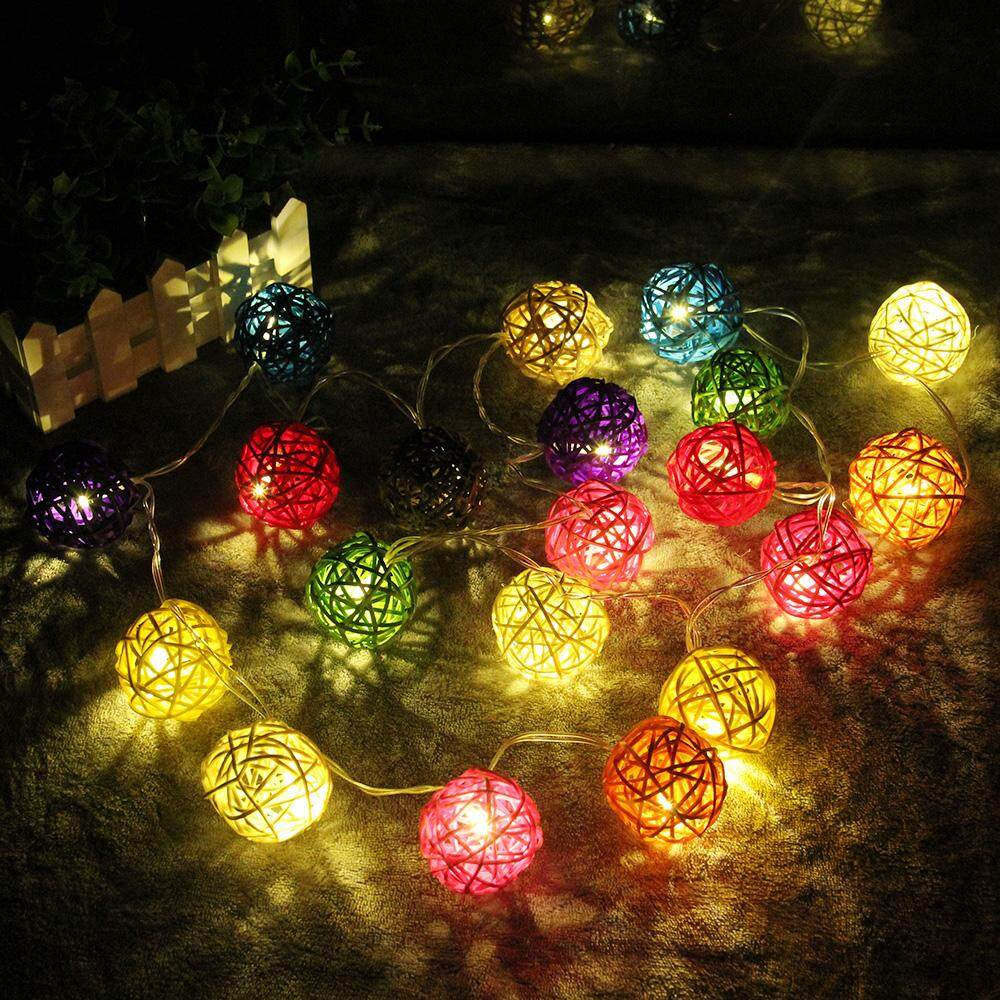 Product details of The latest hot-selling decorative string,5M Rattan Ball LED String Light, LED Fairy String Lights , New Year 、Holiday 、Christmas ...