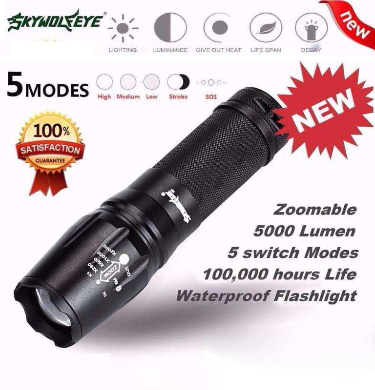 Bigskyie cahaya hitam 2000 lumen 3 Mode CREE XM-L Q5 LED 18650 senter fokus. Source · Bigskyie 5000 Lumen 5 Mode T6 Zoomable LED 18650 Senter Obor Lampu ...