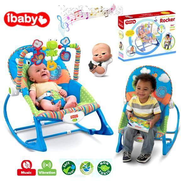 Premium iBaby Rocker Bouncer Music Baby Chair Cartoon Toddler Electric Vibrating Sleeping Bed Chair