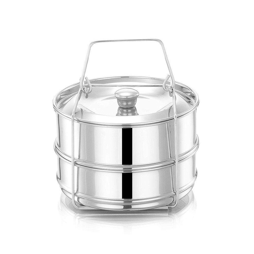 SeaLavender Stackable Steamer Insert Pans for Instant Pot Accessories - Upgraded Silicon handle and Interchangeable Lids - Pressure cooker baking, Lasagna, food steamer