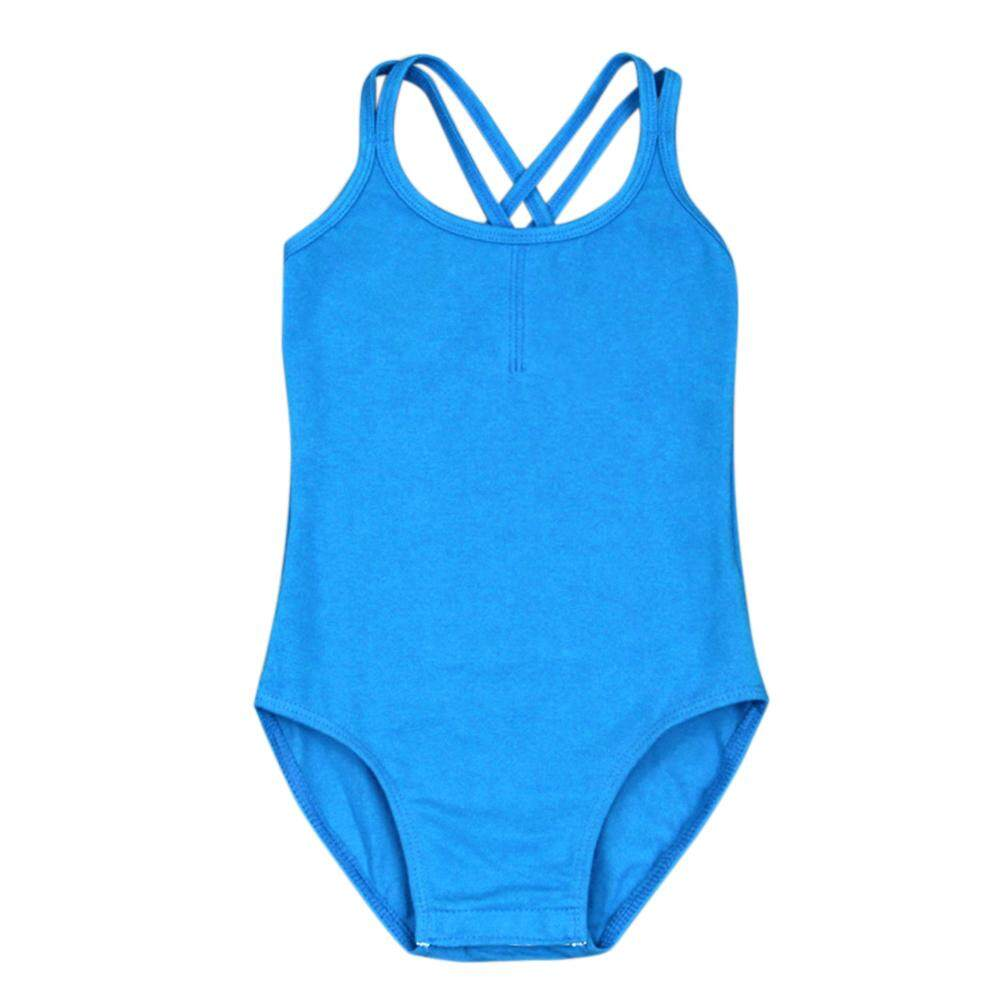YANYI Children Girl Gymnastics Ballet Bodysuit High Elastic Double Sling Dancewear