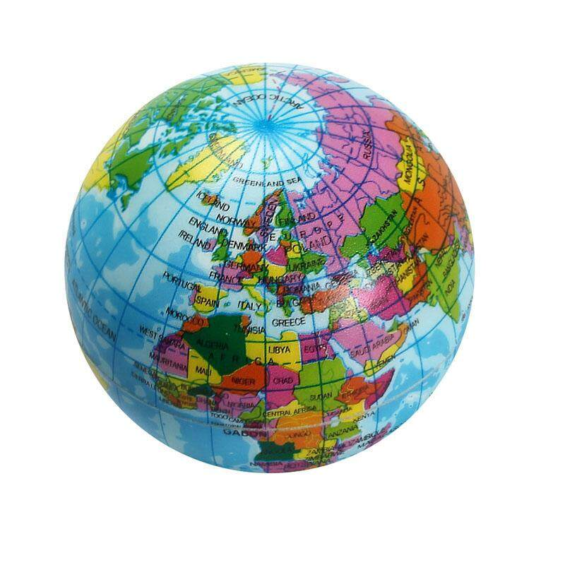 1Pc Mini 7.5cm Foam World Globe Teach Education Geography Toy Map Balloon Beach Ball Model