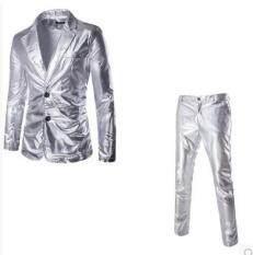 Phù Hợp Với Nam Giới Men Business Suit Bộ Gold Silver Buổi Biểu Diễn Blazer