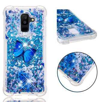 (2 Free Shipping) Samsung Galaxy A6+ / A6 Plus(2018)/J8 2018 3D Cartoon Unicorn Liquid Quicksand Shockproof Phone Case for Samsung Galaxy A6+ / A6 Plus(2018)/J8 2018 Case Cover-