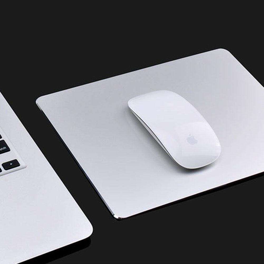 Creative Hard Aluminum Mouse Pad Rectangle Ultra Thin Waterproof Mouse Pad with Non-slip Base