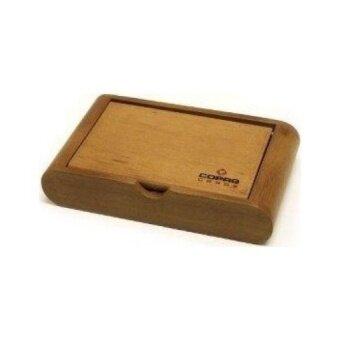 Copag Wooden Box Set - Misto Saraswati Green/Orange Bridge Jumbo100% Plastic Playing Cards
