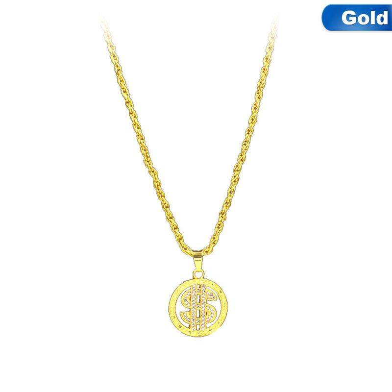 Rainbow Necklace US Dollar Lion Gold Color Pendant & Chain Gift for Men/Women Free