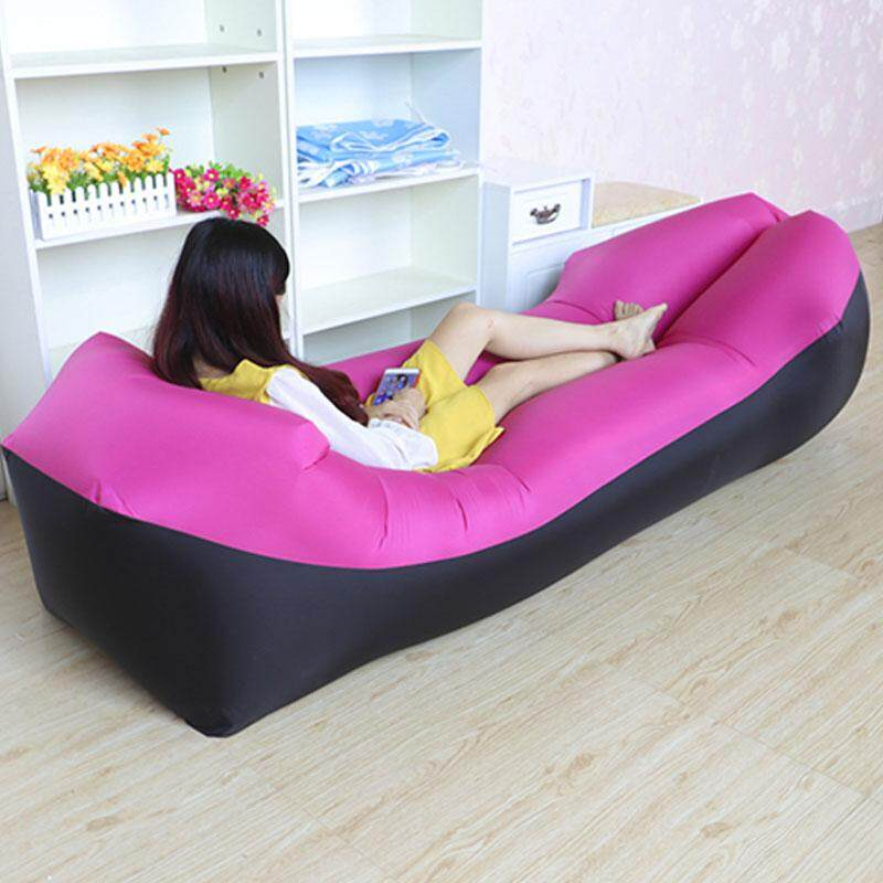 New Lazy Lay Bag Fast Inflatable Lazy Sofa Lounger Air Sofa Chair Outdoor  Beach Lounger(240*70cm)