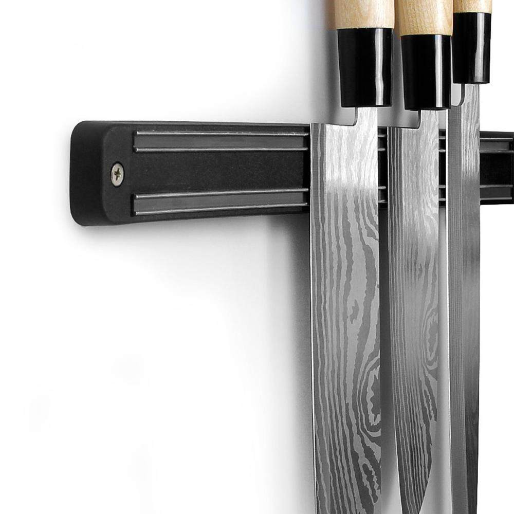 Bkodak Store Giá để Dao có Nam Châm Từ Tính Kệ Để Dao Thiết Thực 13 inch Đen Dao Bảo Quản Vật Dụng Nhà Bếp