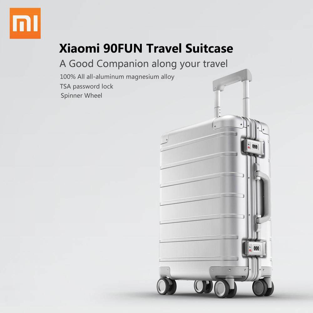 Xiaomi 90FUN Spinner Wheel Luggage Travel Suitcase 20-inch Carry-on with Y belt Pull-rod top-grade all-aluminum magnesium alloy Body Coded Lock - intl