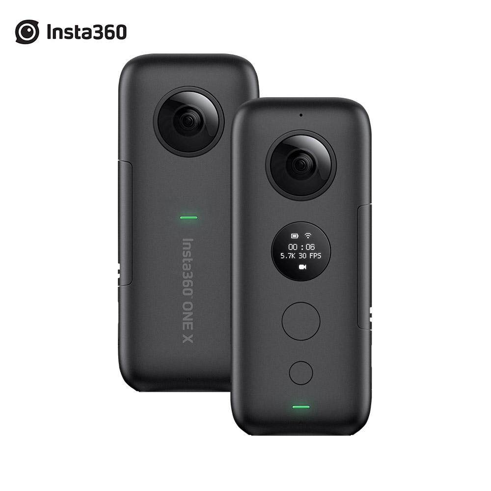Insta360 ONE X FlowState Stabilization Panoramic Action Camera 5.7K Video 18MP Photo 6 Axis Gyroscope APP Editing 360 Live Streaming TimeShift HDR for iPhone X XS XS Max 8 7s Plus6 for iPad Pro for iPad 2018 for HUAWEI For Samsung Xiaomi More Smartphones