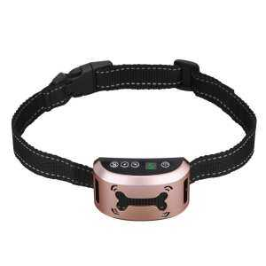 Hình ảnh Costel Rechargeable Anti Bark Collar Dog Training Collar(Gold) - intl