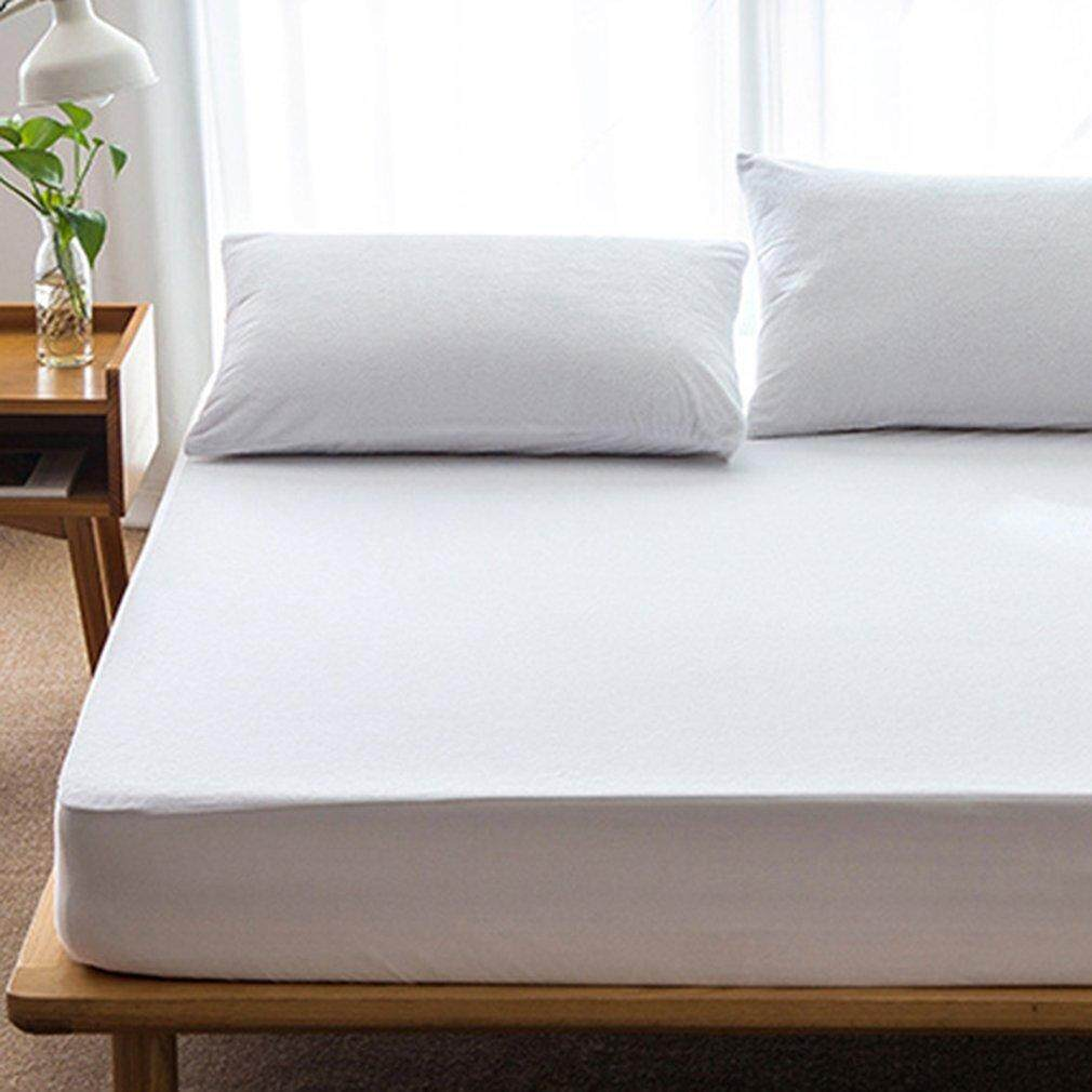 GOOD 180*200cm Cotton Matress Cover Solid Color Waterproof Dust-Proof Mattress Protector - intl