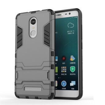 1pcs Good Quality 2 in 1 phone sets Cover Armor Shockproof Phone Cases with holder mobile phone shell For Xiaomi Redmi Note 3 (Grey)