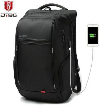 Dtbg Pengisian USB Eksternal Anti-Theft 17.3-Inch Laptop Ransel Kapasitas Besar Ransel Bisnis Nylon Anti Air untuk Perjalanan Tas Fashion Tas Sekolah untuk Pria