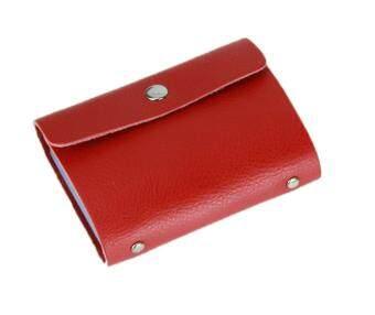 cusepra Cow Leather Fashion Card ID Card Holder Case Bag Wallet Holder , Red