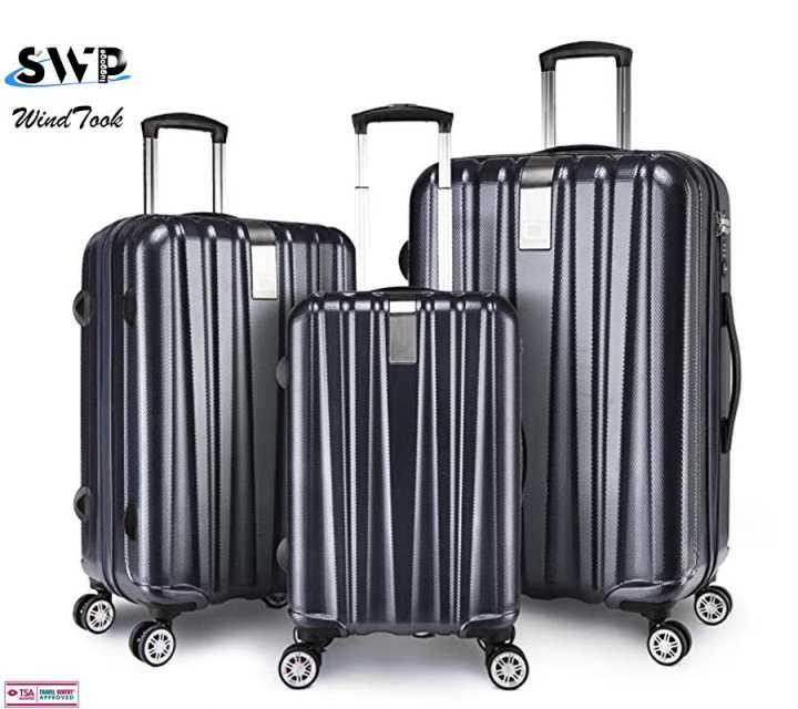 20+24+29 inch 3in1 Pure PC Black Color Shining Bright Surface Luggage With d74e3edb34724