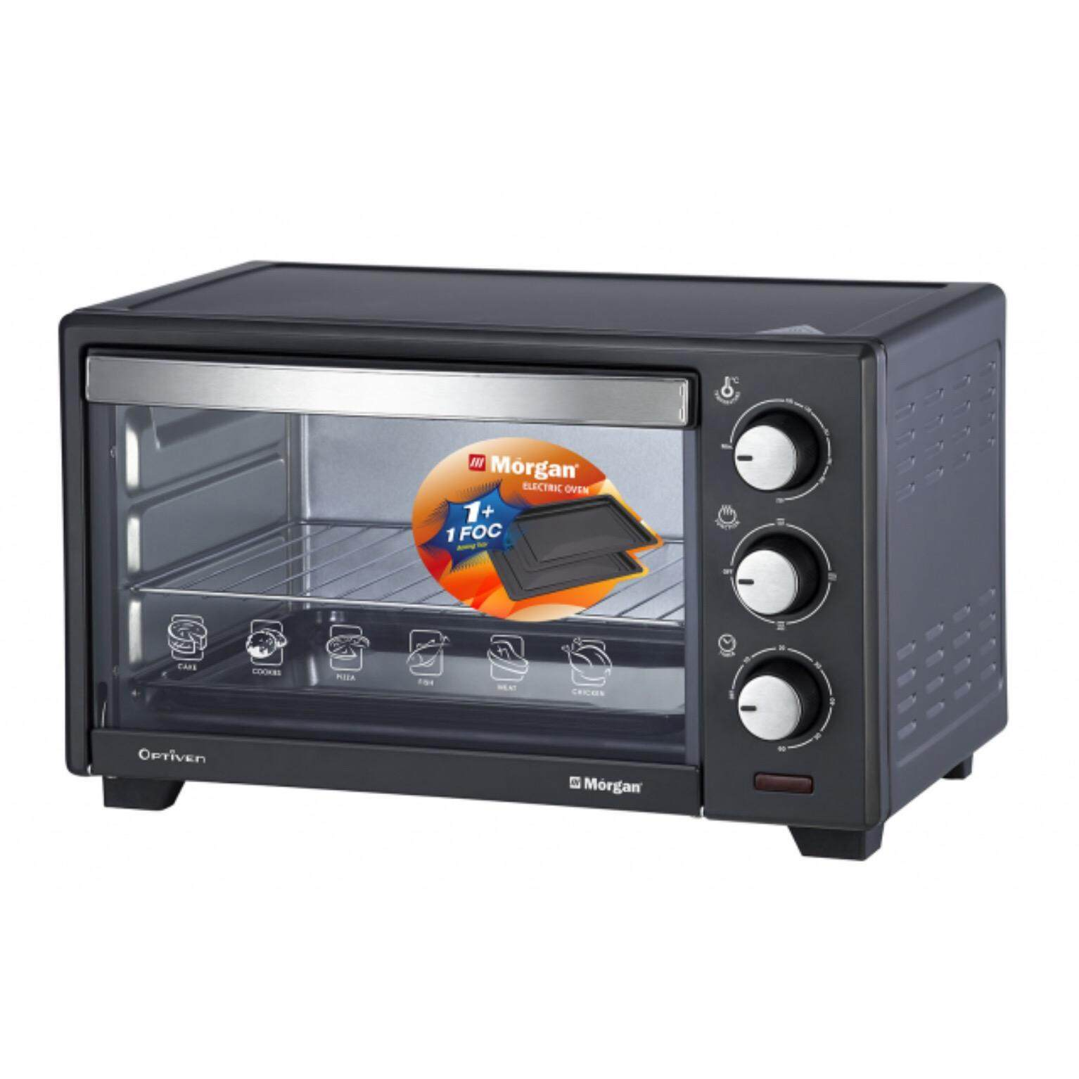 MORGAN 20L Electric Oven MEOHC22 (Black) + Free extra baking tray & cupcake bake tray