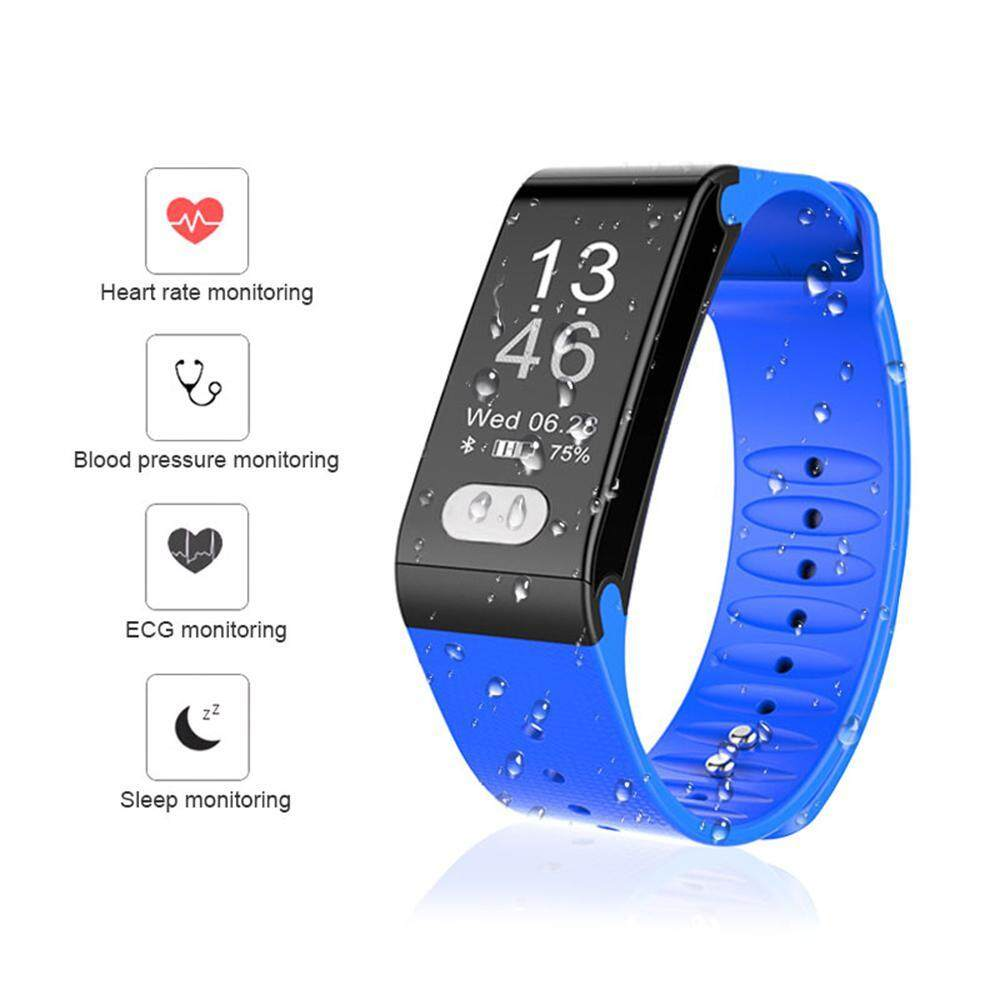 niceEshop Fitness Tracker, Activity Tracker With Pedometer Blood Pressure Heart Rate Monitor IP67 Waterproof Step Calorie Distance Tracker Call SMS SNS Remind For Men Women Kids Android IPhone   สายรัดข้อมือเพื่อสุขภาพ อุปกรณ์ไอทีสวมใส่