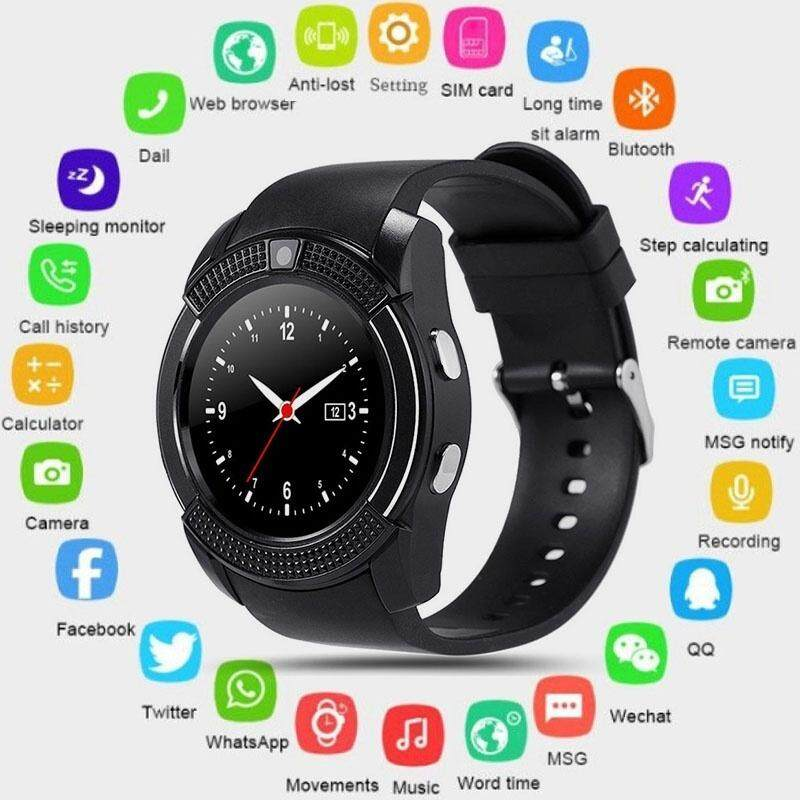 A-Mio V8 Sport Office Bluetooth Smart Wrist Watch Camera SIM TF Slot for IOS Android