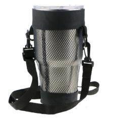 1xShoulder 30 Oz Tái sử dụng Carrier Mug Chủ Túi có thể điều chỉnh Dây đeo Vai Thời trang Cốc Chủ Túi nước Chai Mang lưới Net Túi xách tay Cup Cup