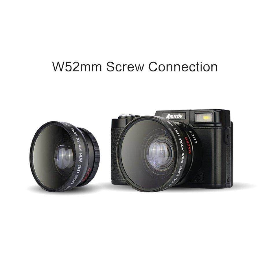 "FCU Amkov AMK-R2 24MP 1080P 3.0"" LCD Rotatable Screen Digital SLR DV Recorder Camera"