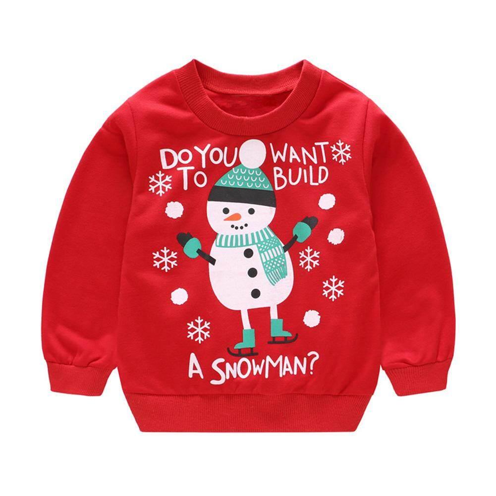 YANYI Baby Christmas Pullover Long Sleeve Printed Cute Fashion Kids Sweater