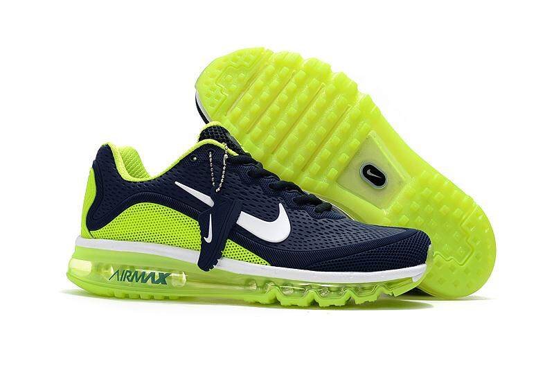hot sale online 03df5 fcd59 Nike Men s Air Max 2017 Breathable Sports Shoes Running Sneaker (Blue Green)