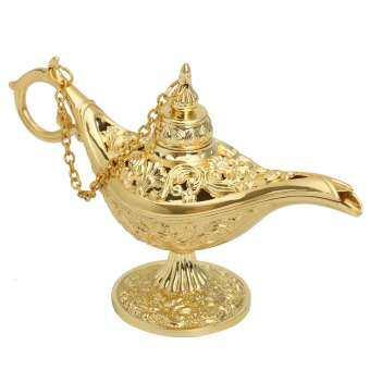 GOLD Aladdin จินนี่มายากลแผ่นเรืองแสงหม้อตะเกียงอะลาดินตกแต่งที่สวยงาม-