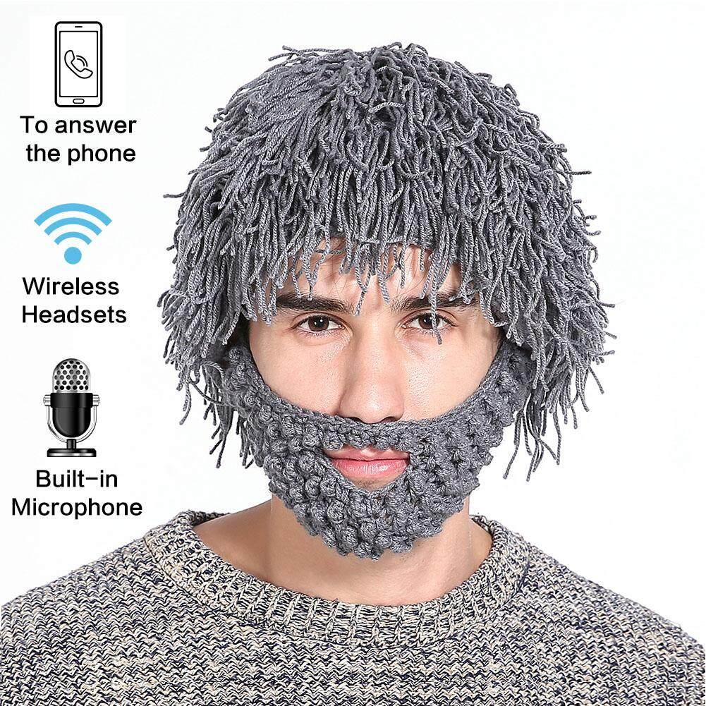 Tay Halloween Với Bộ Tóc Giả Ngoài Trời Bluetooth Thể Thao Mũ Tai Nghe 2 trong 1 Râu