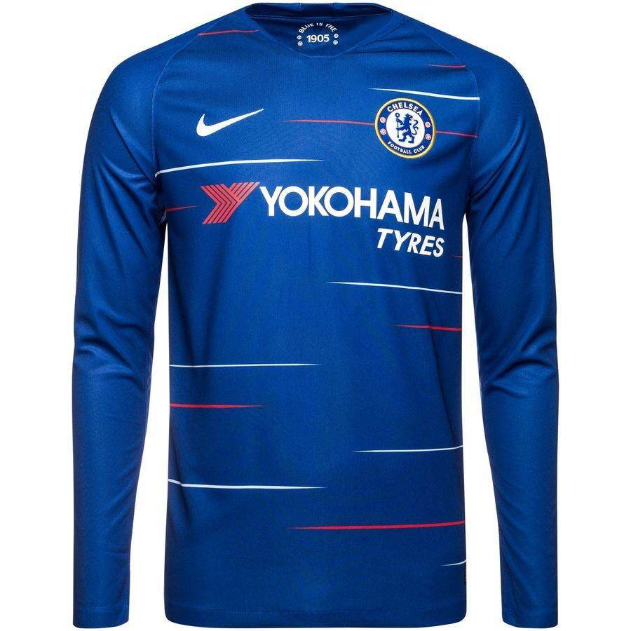 Chelsea_ Home 2018/19 Long Sleeve Jersey for Men EPL
