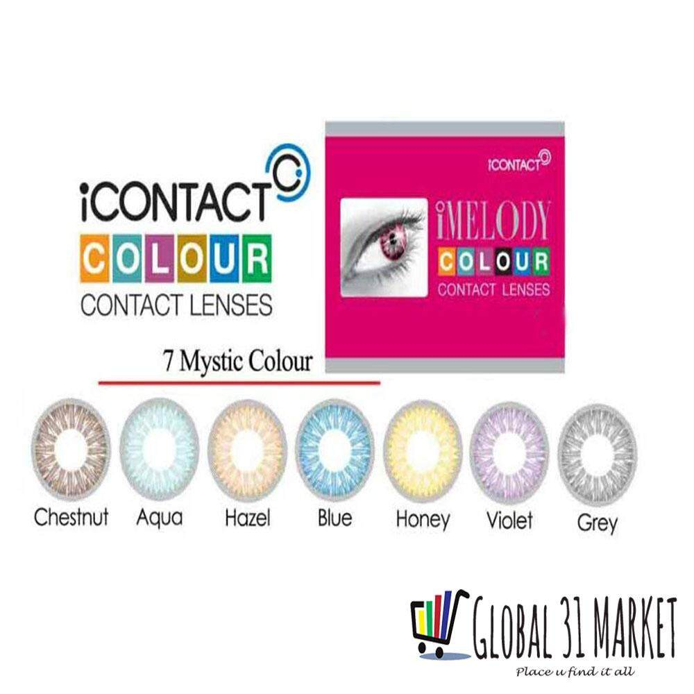 iContact iMelody Series , Monthly Disposable , Color Contact Lens ,14.00mm , 7 Wonder Color