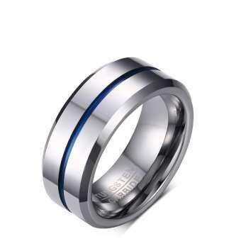 Rcai ใหม่แหวน 8 มิลลิเมตรทังสเตนสตีลแหวนผู้ชายบุคลิกภาพเครื่องประดับแฟชั่น-